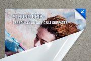 Das neue solvoprint® performance wall-grip – haftet dort, wo andere Folien aufgeben müssen
